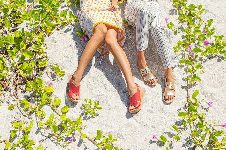 two pair on the beach