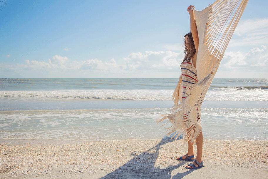 Parson on a breezy beach