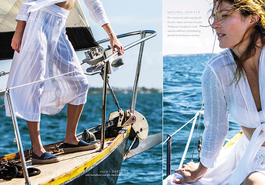 natural summer on sailboat