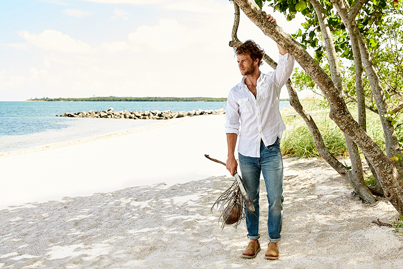 male model machete coconut