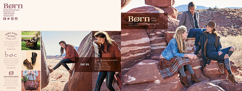 Consumer Catalog Cover for Born Shoes